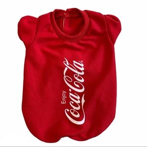 Dog red Coca-Cola top jacket size small